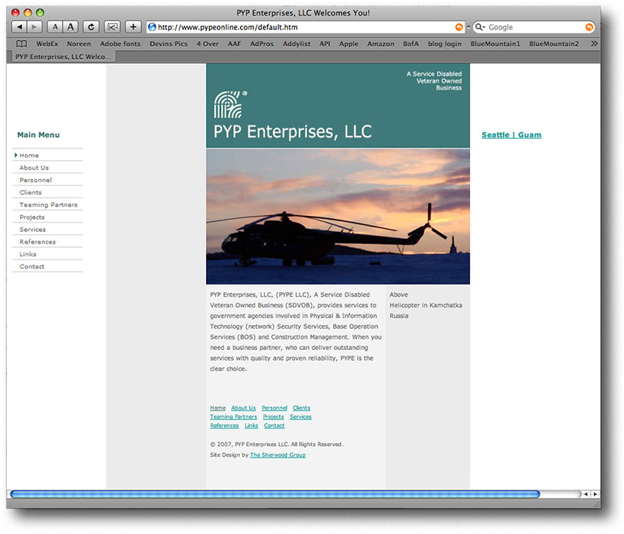 International Gold Award, Pyp Enterprises Website