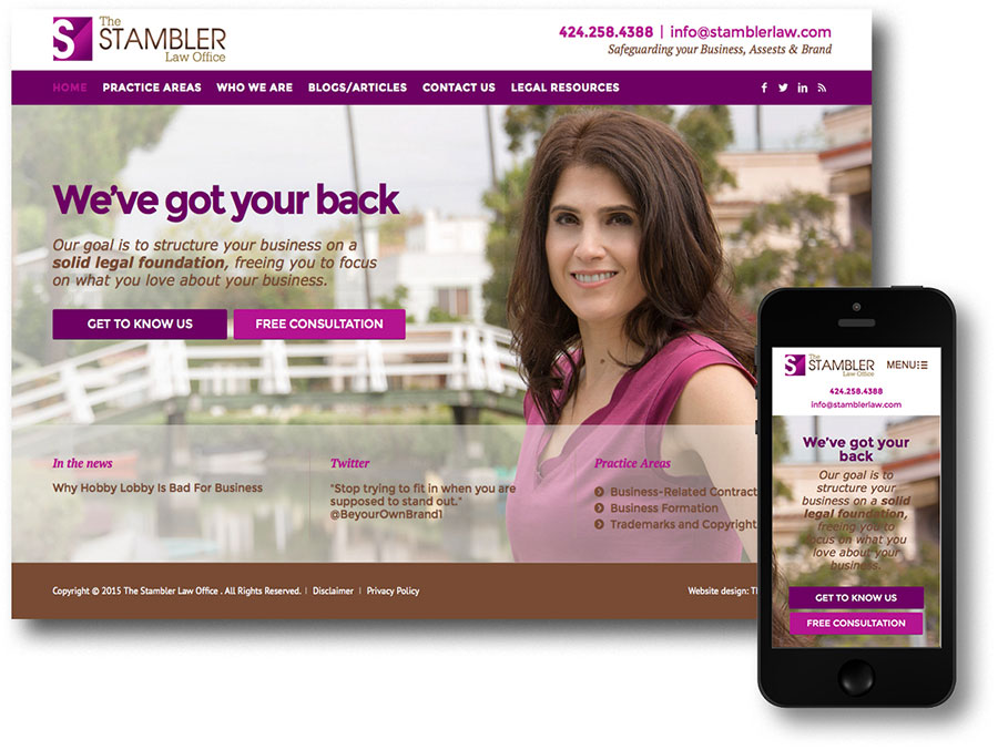 Stambler Law Web Site