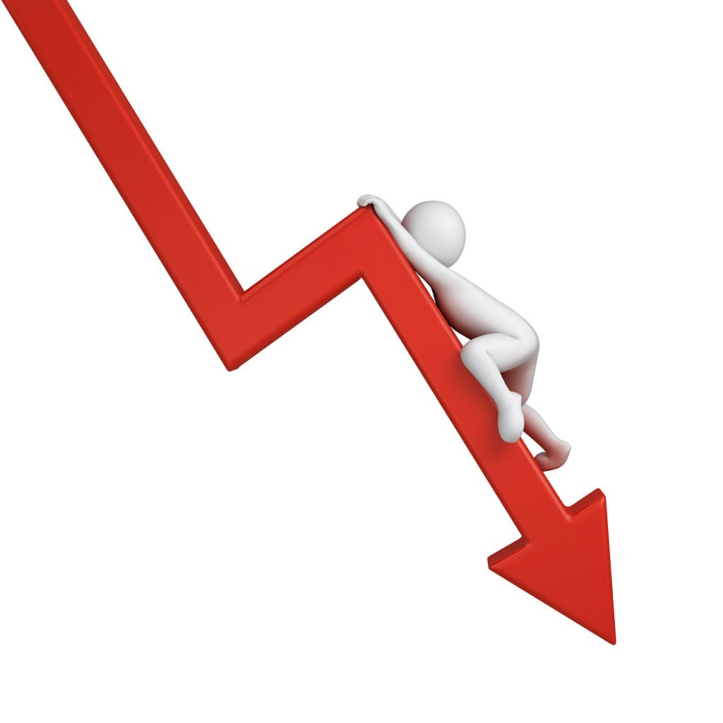 Graph of a business decline