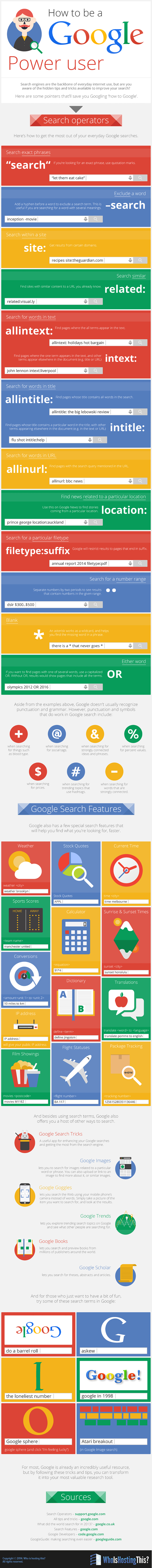 How to be a google power user infographic