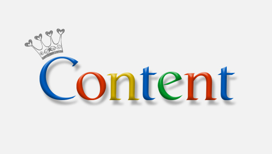 Web Design requires content & content is King of Blogging!