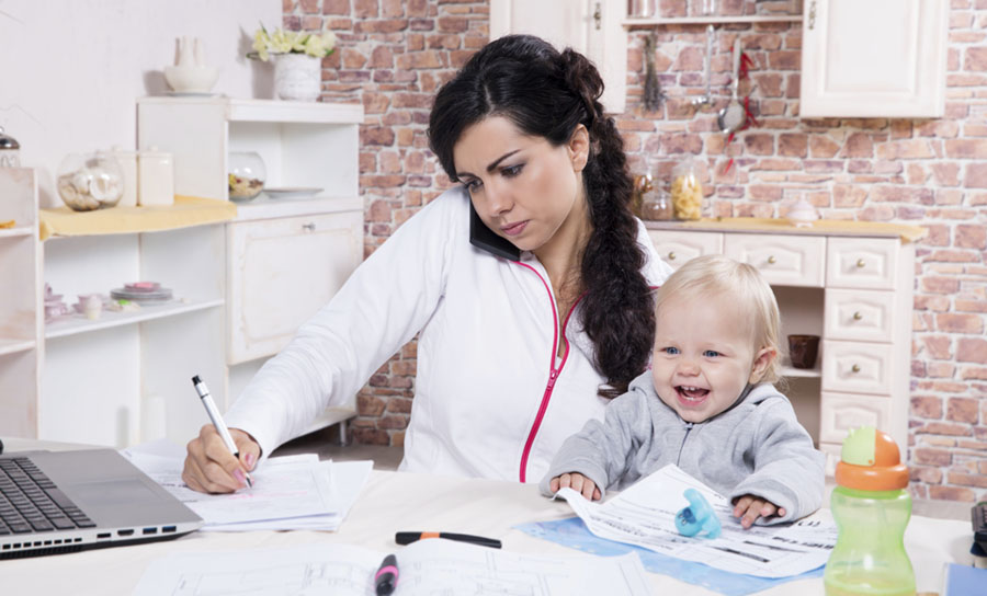 building a home business with children